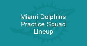 Miami Dolphins Practice Squad Lineup